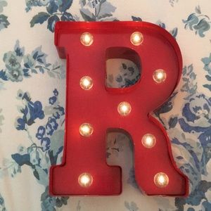 "Other - Light up red letter ""R"" sign"